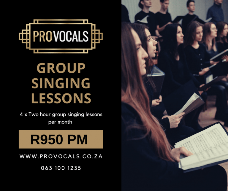 Group singing lessons in Johannesburg South Africa with ProVocals Vocal Academy and vocal training school