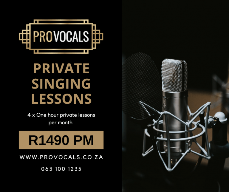 Private singing lessons in Johannesburg, Sandton at ProVocals Vocal Academy