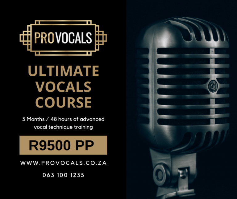 Vocal Training Course from Provocals Vocal Academy in Johannesburg South Africa. The best vocal training workshop to learn how to sing like a professional.