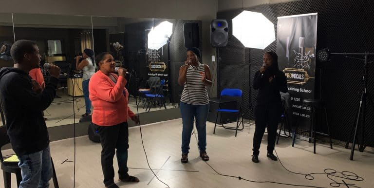 Group singing lessons to learn harmonies and backing vocals - the best singing lessons in Johannesburg, Sandton South Africa